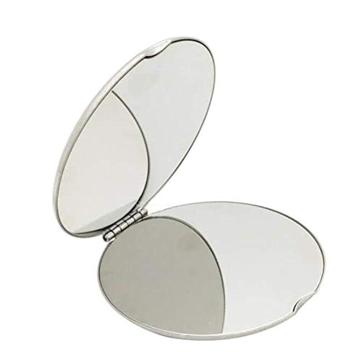 ボーダー非武装化分類飛散防止化粧鏡ステンレス鋼 化粧鏡おすすめ 携帯用ミラー化粧用鏡(ラウンド)