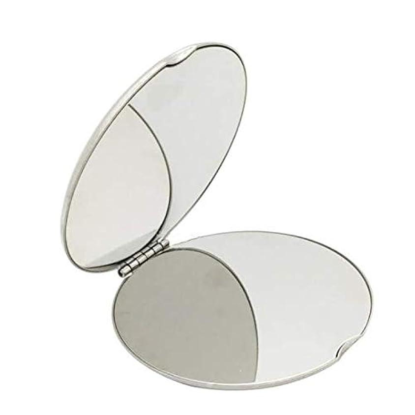 ティームサミット沼地飛散防止化粧鏡ステンレス鋼 化粧鏡おすすめ 携帯用ミラー化粧用鏡(ラウンド)