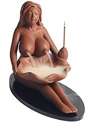 Vosarea 逆流香バーナーセラミックアロマセラピー炉レディ逆流香香炉ホルダー工芸用ホームティーハウス