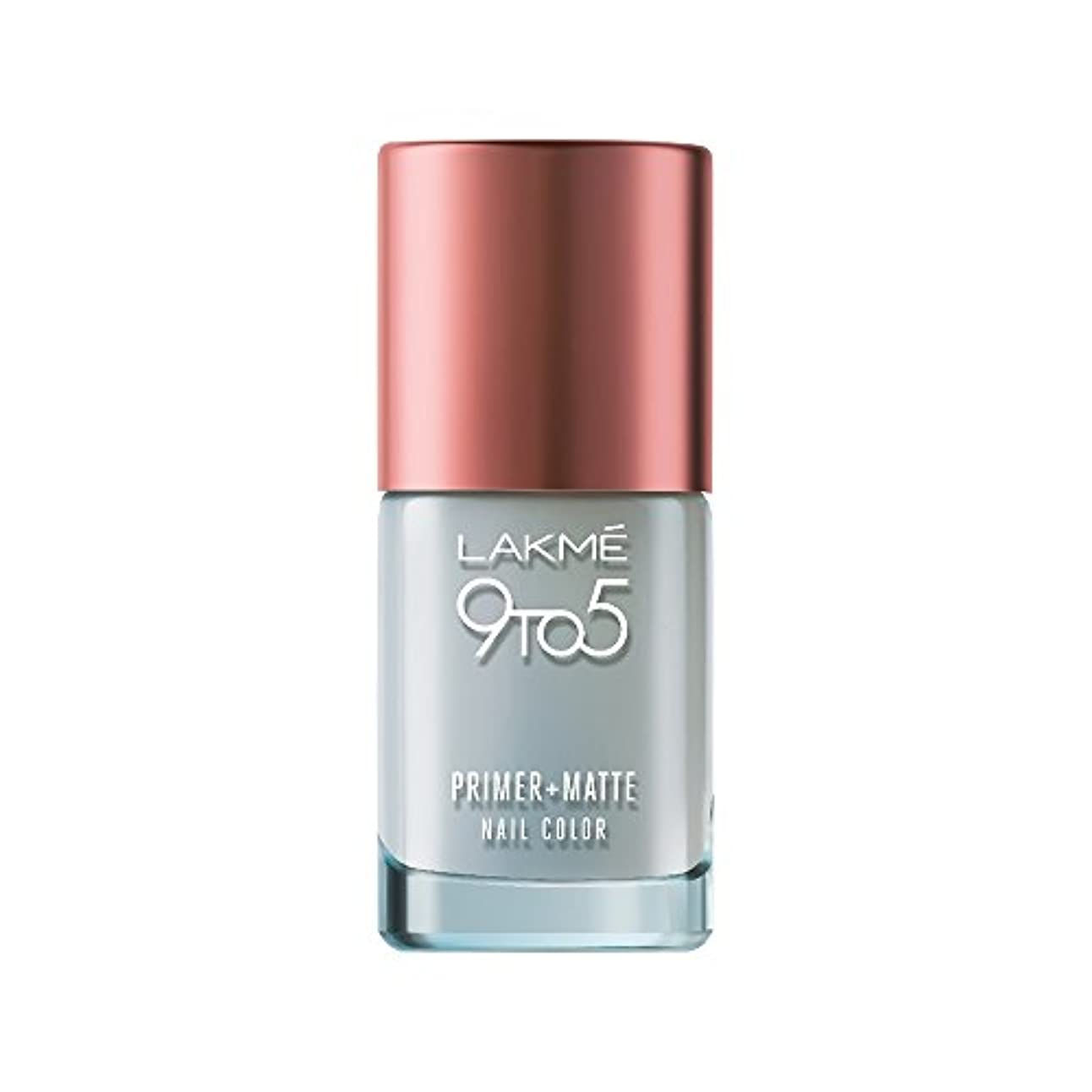 終わらせる修正裸Lakme 9 to 5 Primer and Matte Nail Topcoat, Clear, 9ml