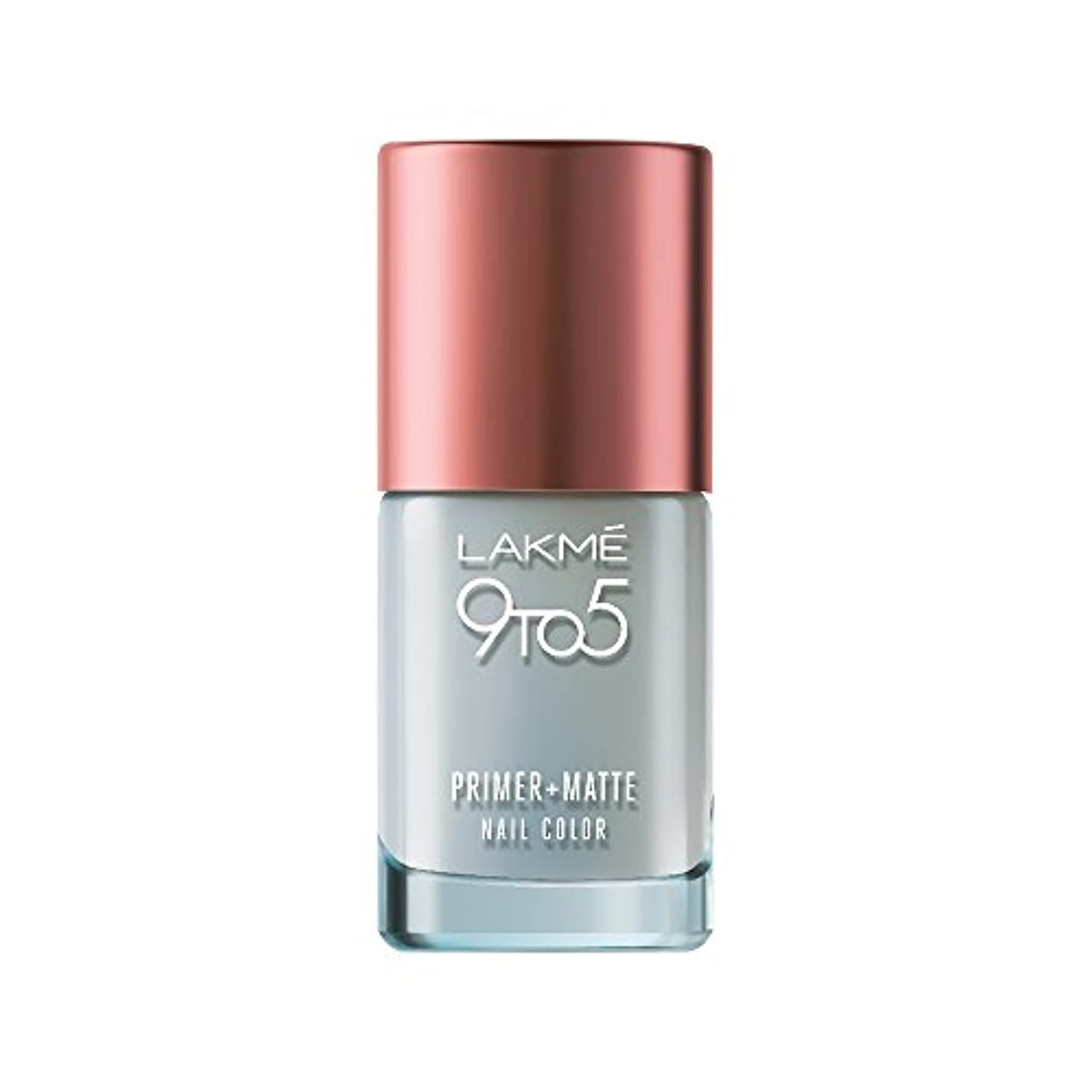 心理学ドラフトスロープLakme 9 to 5 Primer and Matte Nail Topcoat, Clear, 9ml