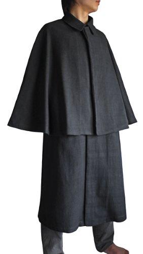 ジョムトン手織り綿のインバネスコート (Mサイズ)