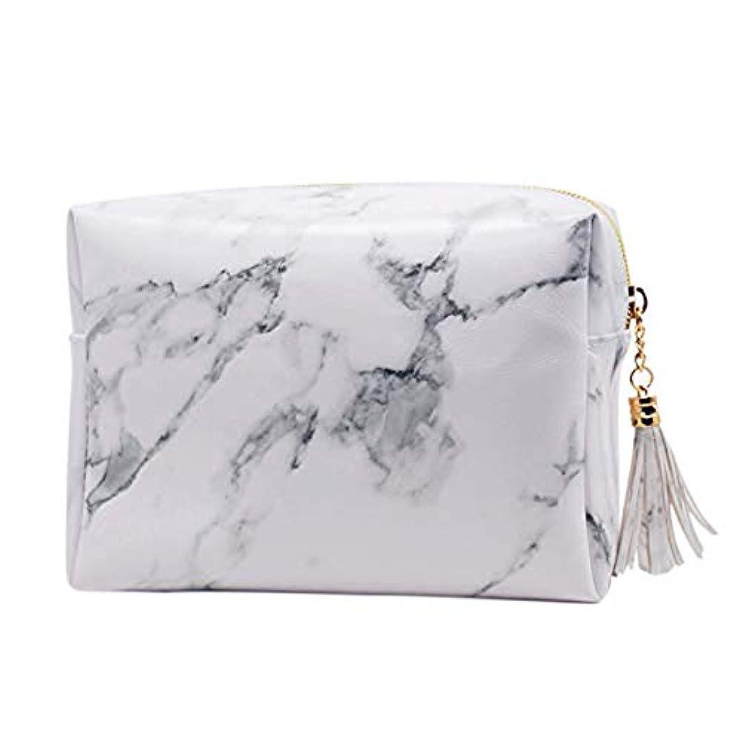 赤外線する篭SODIAL 大容量大理石パターンの化粧品袋化粧ブラシキットバッグハンドバッグトイレタリーケースゴールドジッパーバッグ、美しいタッセル付き(小:6.3 x 5.1 x 2.4インチ)