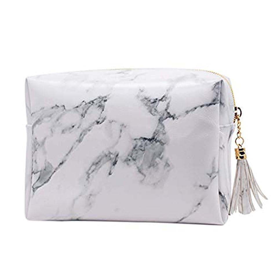 ゆでる傾くサミットRETYLY 大容量大理石パターンの化粧品袋化粧ブラシキットバッグハンドバッグトイレタリーケースゴールドジッパーバッグ、美しいタッセル付き(小:6.3 x 5.1 x 2.4インチ)