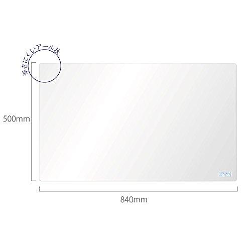 ミワックス 学習デスクマット 50cm×84cm TM-5084N 透明