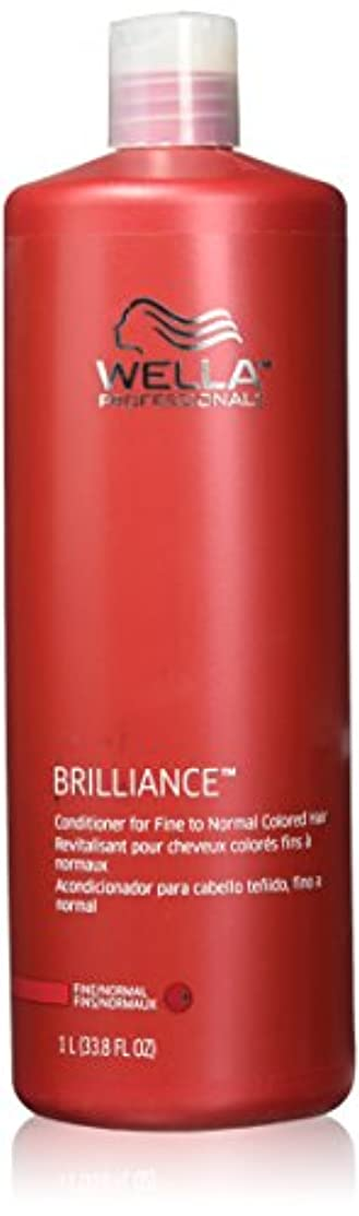タオルタクト不測の事態Wella Professionals Brilliance Conditioner For Fine To Normal, Coloured Hair - 1 Litre