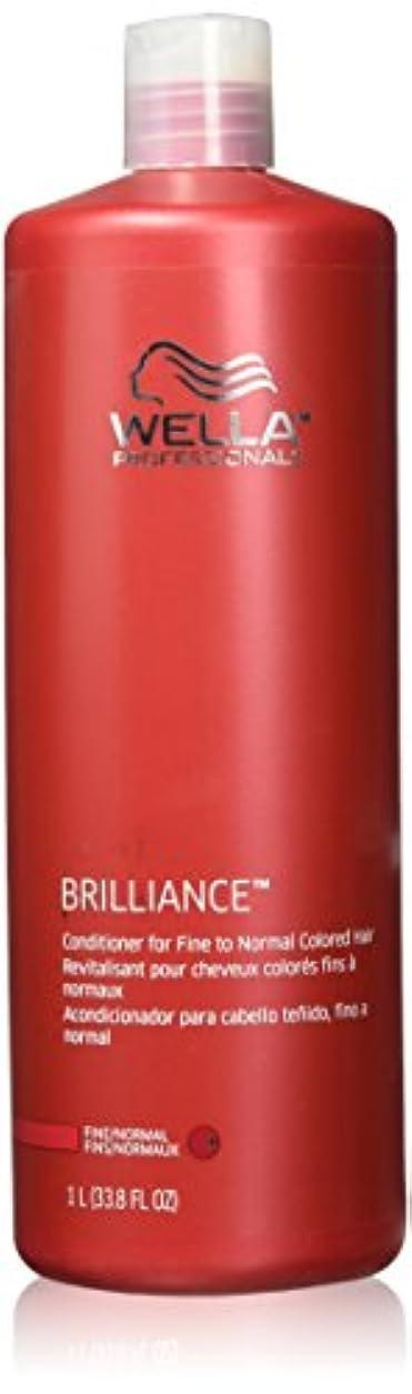 予算複雑な普及Wella Professionals Brilliance Conditioner For Fine To Normal, Coloured Hair - 1 Litre