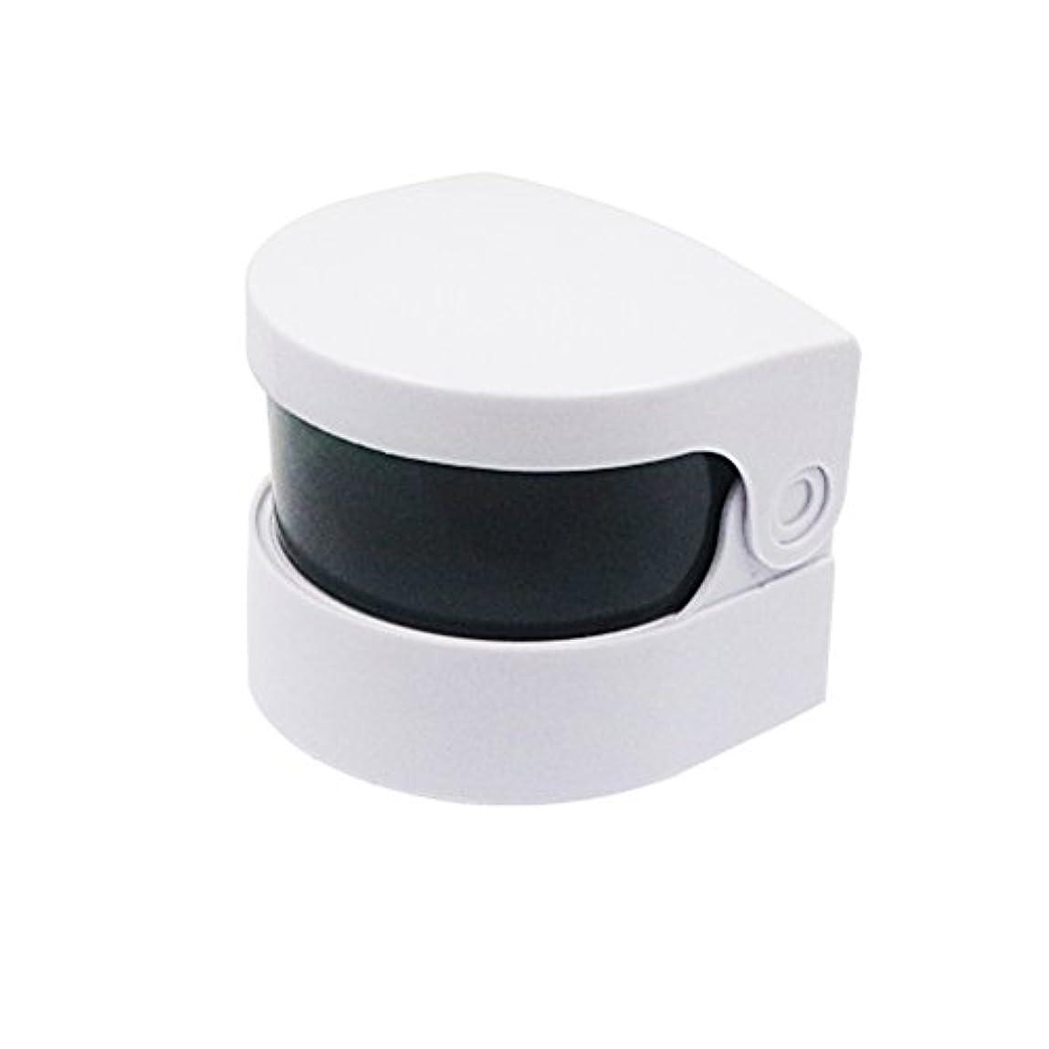 委託充電アスレチックHealifty 超音波クリーナー義歯クリーナーバスジュエリー時計用クリーニングマシンメガネコイン(ホワイト)