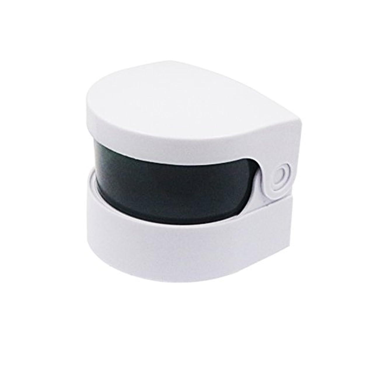 サドル偽装するストライプHealifty 超音波クリーナー義歯クリーナーバスジュエリー時計用クリーニングマシンメガネコイン(ホワイト)