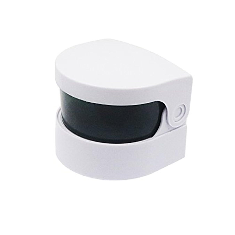 不適当可能性器具Healifty 超音波クリーナー義歯クリーナーバスジュエリー時計用クリーニングマシンメガネコイン(ホワイト)