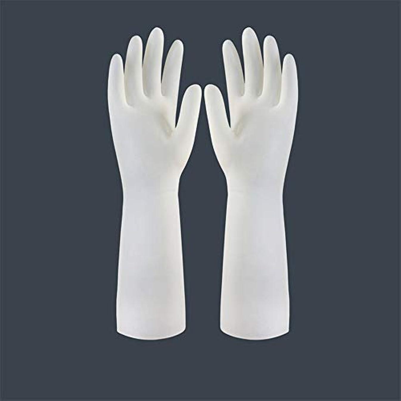 独占上げる悪魔BTXXYJP キッチン用手袋 手袋 食器洗い 作業 炊事 食器洗い 掃除 園芸 洗車 防水 防油 手袋 (Color : Long-1 pair, Size : L)