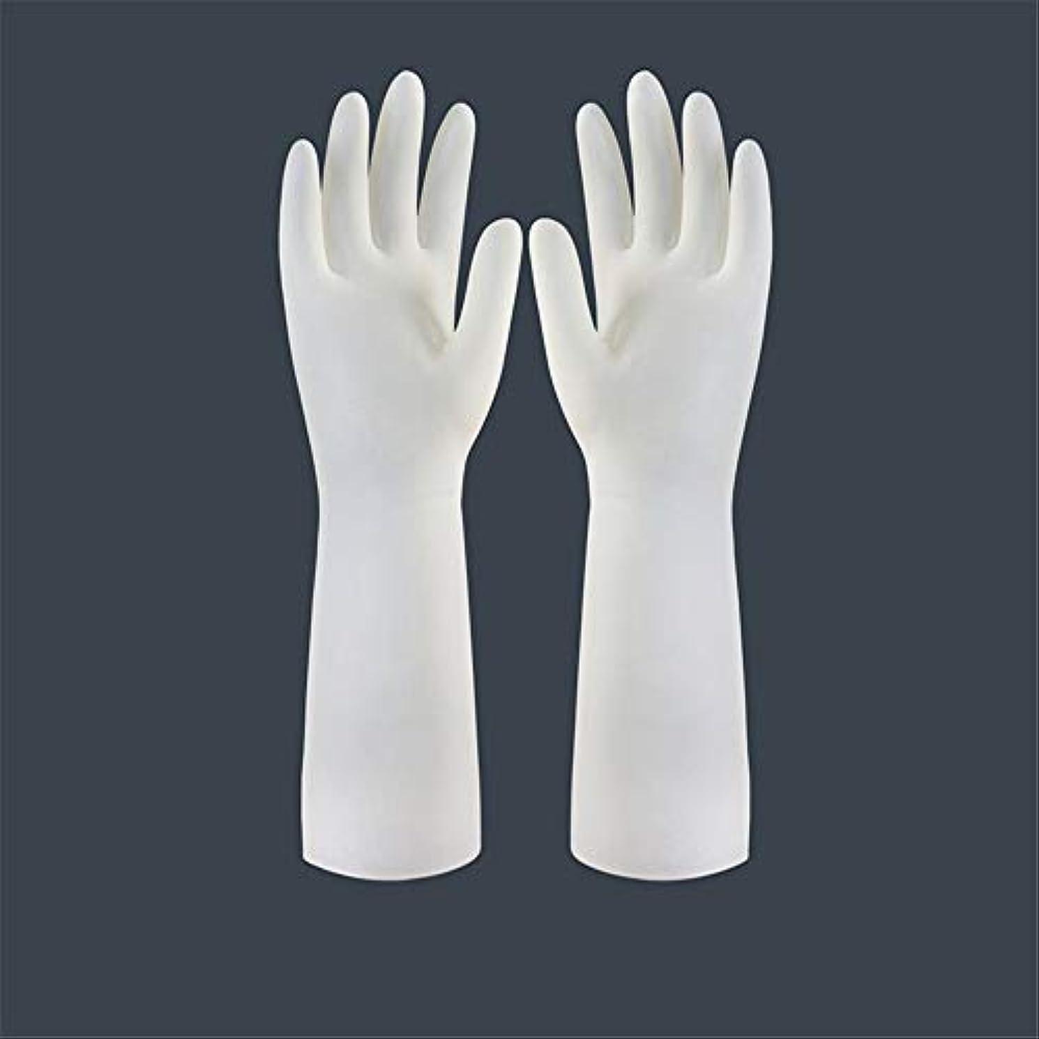 分析的褐色外観BTXXYJP キッチン用手袋 手袋 食器洗い 作業 炊事 食器洗い 掃除 園芸 洗車 防水 防油 手袋 (Color : Long-1 pair, Size : L)
