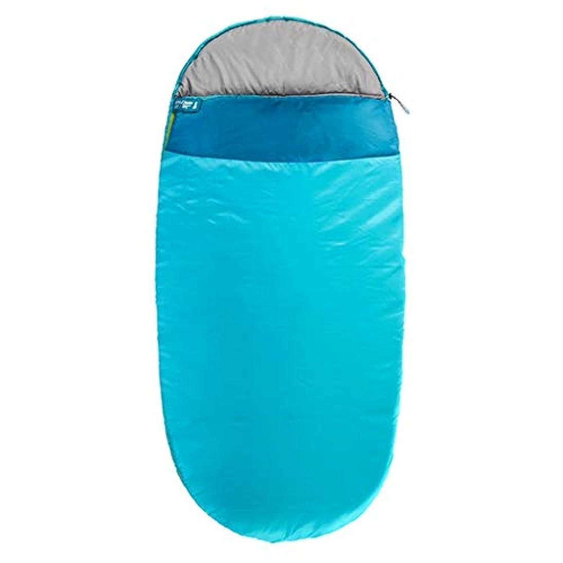 ハーネスコース意味寝袋アウトドア寝袋シングル寝袋封筒寝袋肥厚通気性の広いスペース GBYGDQ (Color : Blue, Size : 200×90cm)