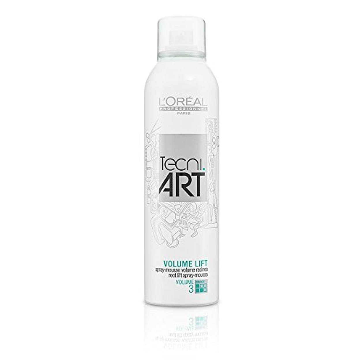 わがまま道に迷いました軍L'Oreal Tecni Art Volume Lift - Root Lift Spray - Mousse 250 ml [並行輸入品]