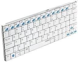 ユニーク Bluetoothキーボード rapoo E6300 ホワイト 5.6mmウルトラスリム E6300W