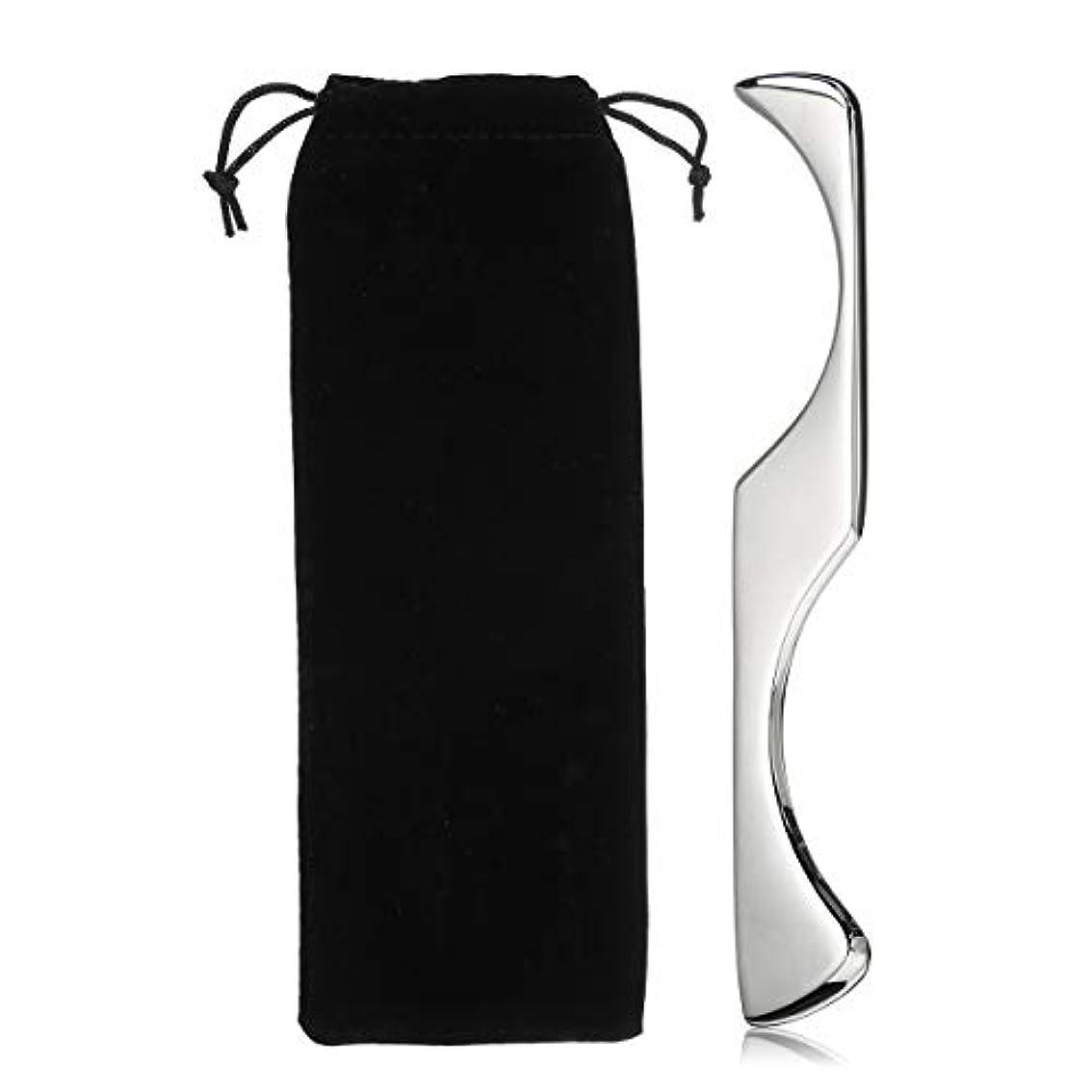混合精巧な上記の頭と肩AJACK 不規則な形Guasha マニュアルマッサージャー ステンレス鋼 Gua Shaスクレーピングボード ボディツール