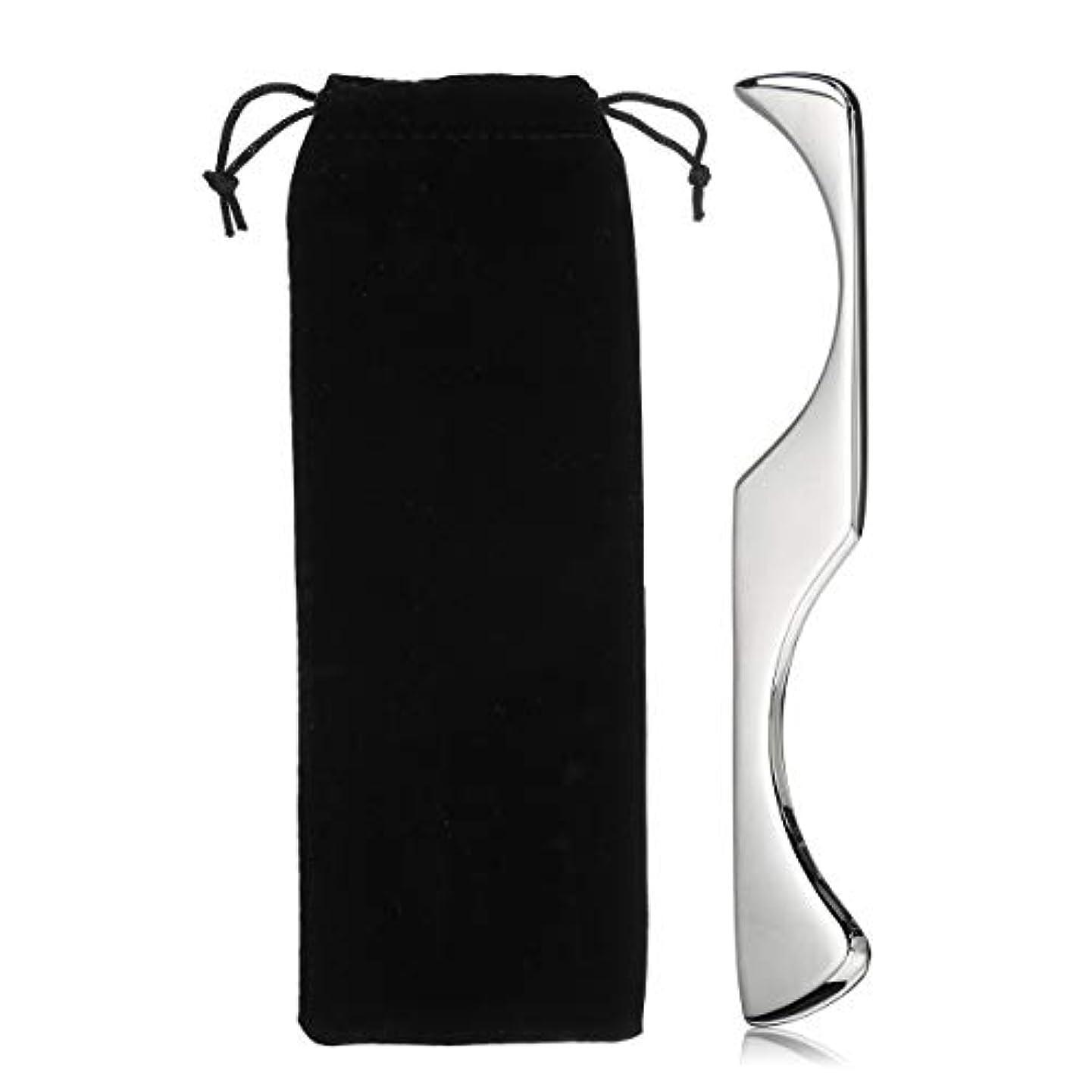 リーン擬人化手錠AJACK 不規則な形Guasha マニュアルマッサージャー ステンレス鋼 Gua Shaスクレーピングボード ボディツール