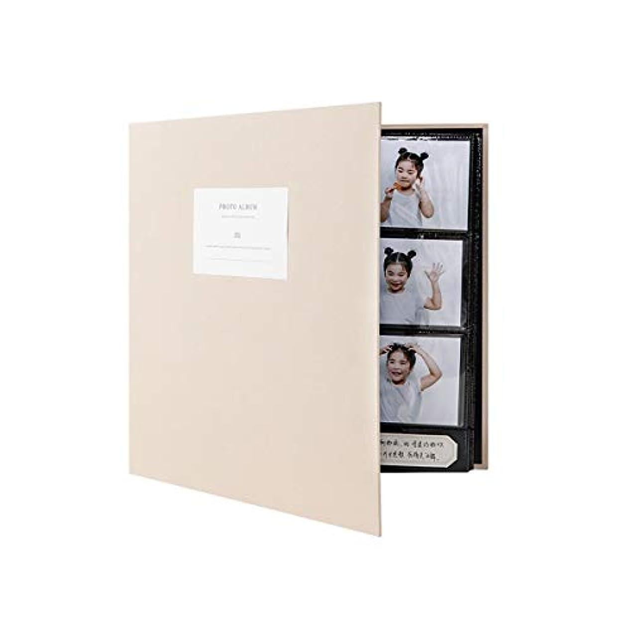 眠るカードピューLHSY 大容量フォトアルバム、記念アルバム、コレクション、インタースティシャル3インチ5インチ10インチフォトストレージブック (Color : Beige, Size : Mixing)