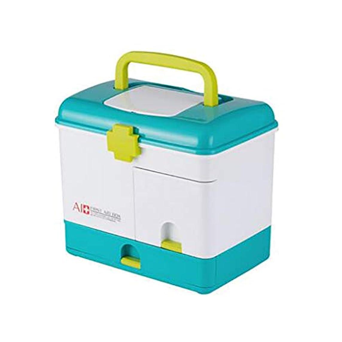 広範囲に学士ローマ人コンパートメントが付いているロックできる薬箱のオルガナイザーの小さい薬のロック箱、薬箱の収納箱