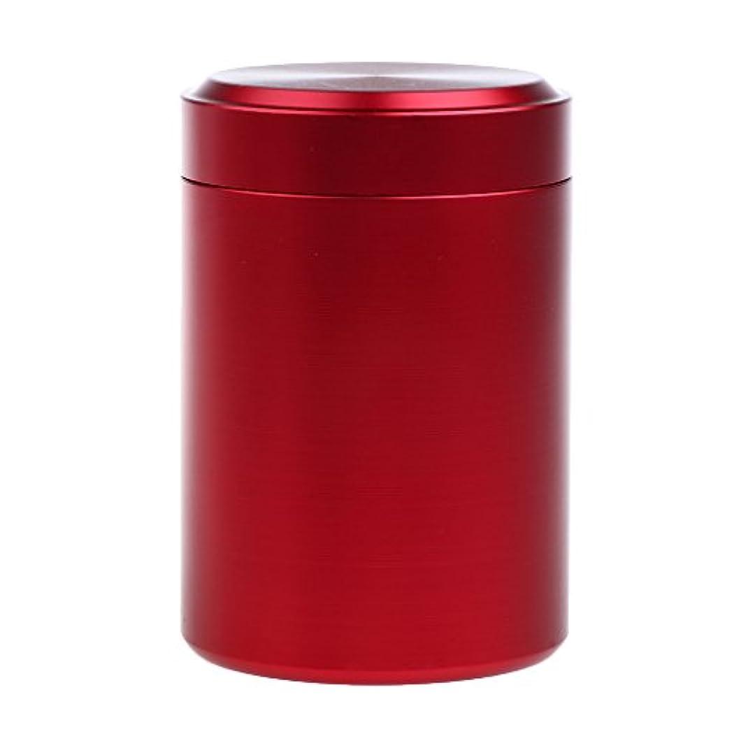 操作半ば付属品カプセルボックス シールボトル ピルケース 薬ケース アウトドア 旅行小物 アルミ 防水 全5色 - 赤