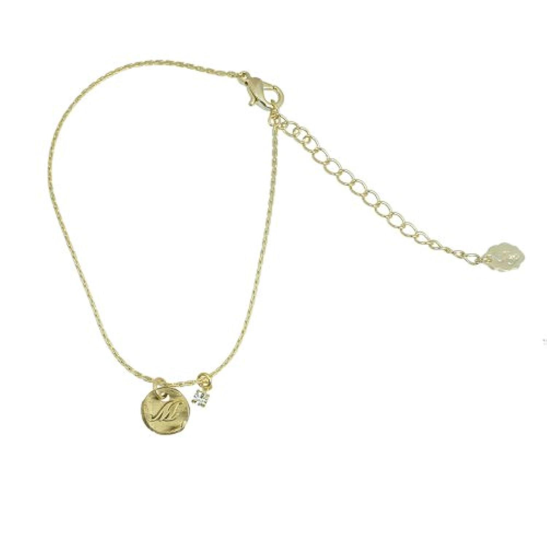 アクセサリーショップピエナ イニシャルが彫られたゴールドブレス M