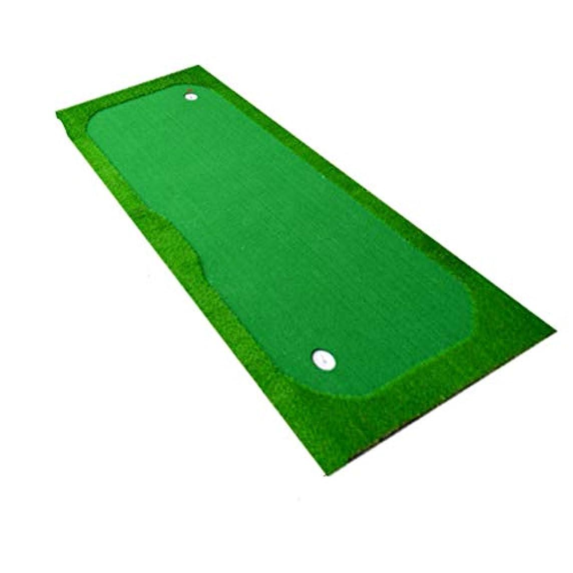 ロッド炭水化物他の日ゴルフマット 高品質屋内ゴルフグリーングリーンポータブルグリーンゴルフパターパッドプロの練習グリーンゴルフシミュレータトレーニングパッド補助機器 室内グリーン (色 : 緑, サイズ : 1.5*3)