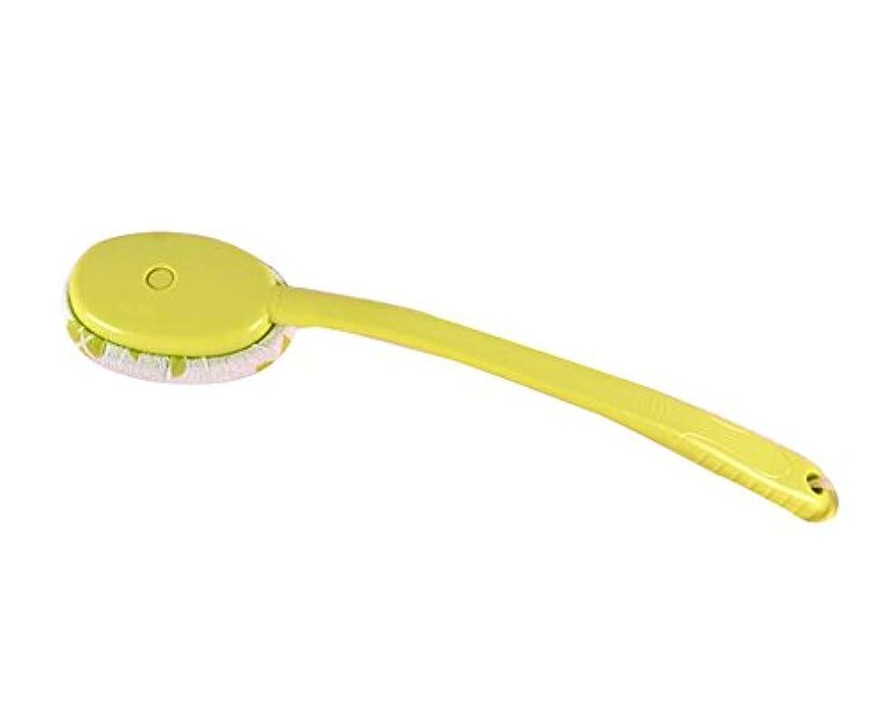逆説区別振動させるラビングバスタオルバスブラシクリエイティブロングハンドルラビングブラシ、グリーン