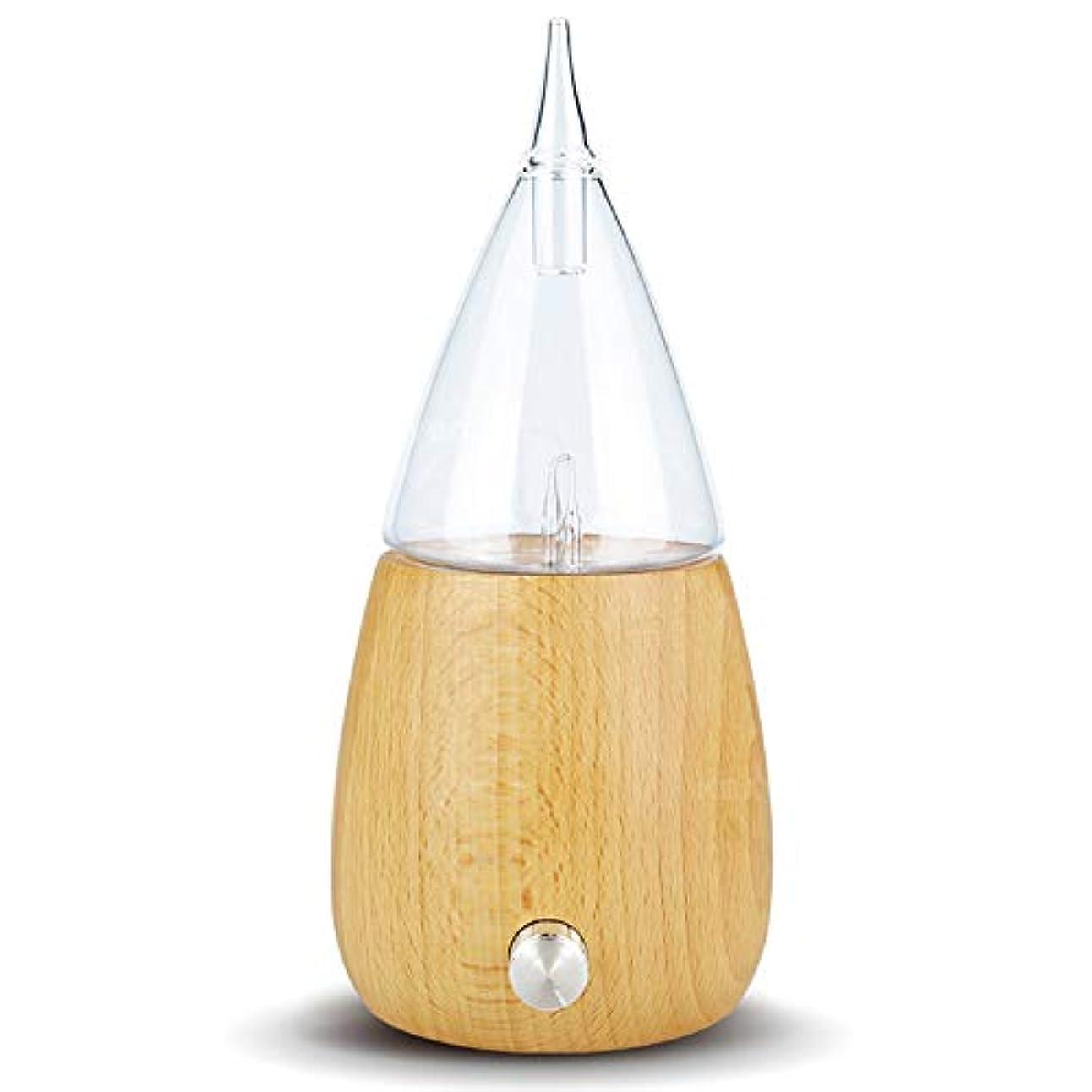 接地統合差別化するRakuby アロマ セラピーディフューザー ガラスリザーバー噴霧 純粋エッセンシャルオイル アロマ ディフューザー 加湿器 オートシャットオフ カラフルledライト用 ホームオフィス