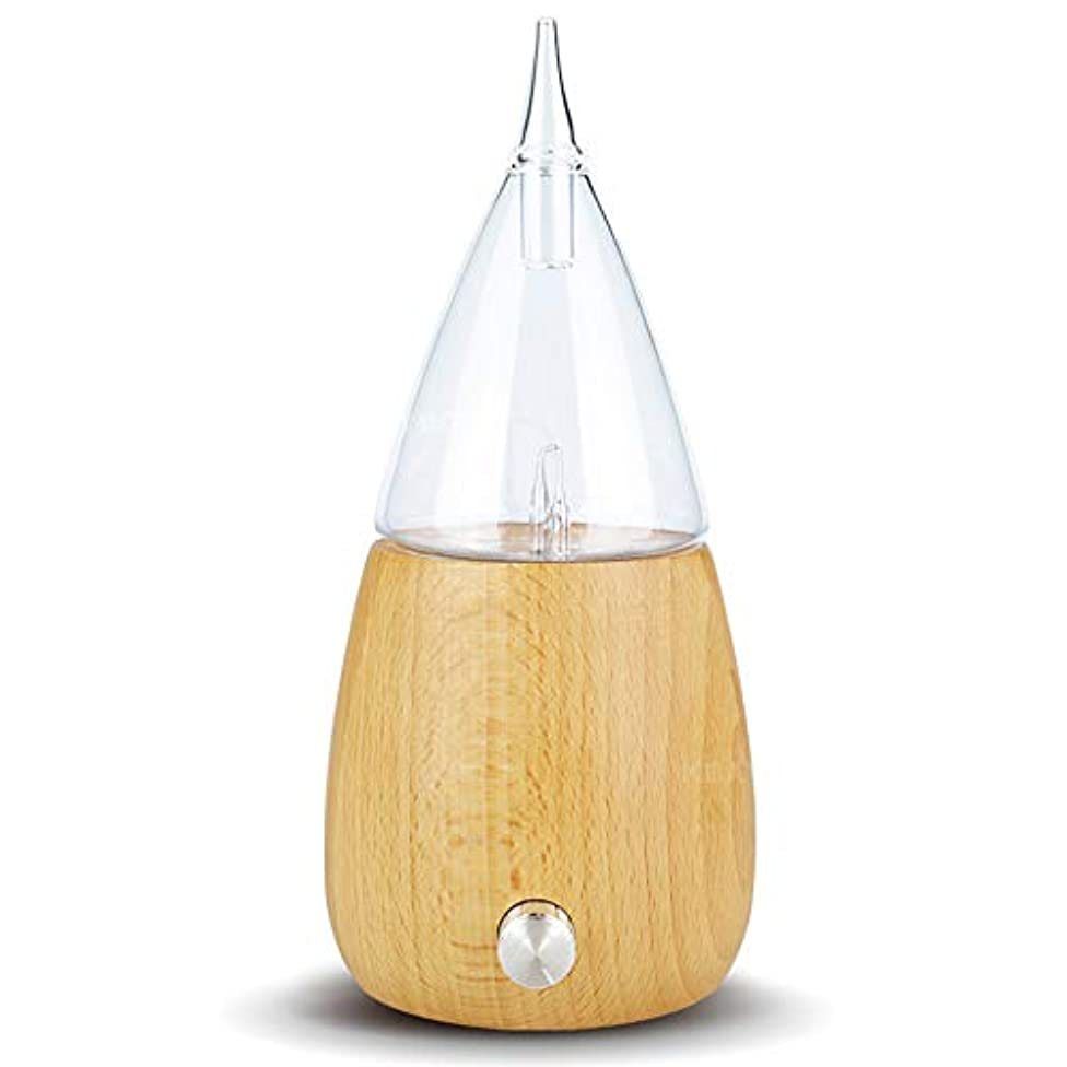 チェス最高とRakuby アロマ セラピーディフューザー ガラスリザーバー噴霧 純粋エッセンシャルオイル アロマ ディフューザー 加湿器 オートシャットオフ カラフルledライト用 ホームオフィス