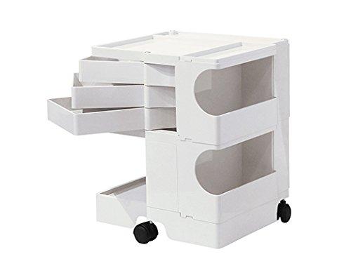 B-LINE/ビーライン ボビーワゴン2段3トレイ ホワイト 収納家具 サイドワゴン キャスター付ワゴン デザイナーズ家具