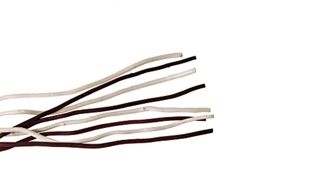 汚れるレベル聴くmercyu(メルシーユー) mercyu 交換用 リード 柳 45cm 10本入 2色混合 MRUS-RWOWM (WB(ホワイト&ブラウン))