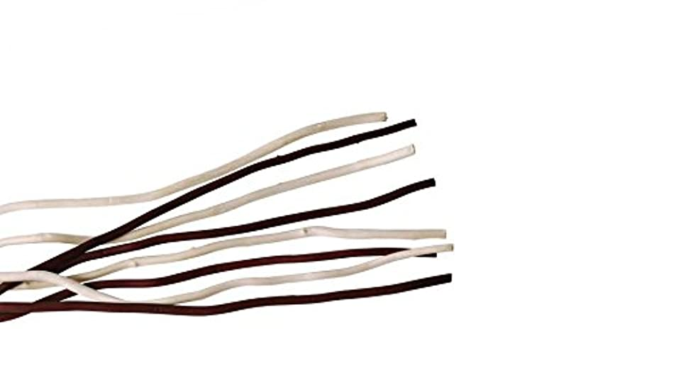 盆地群れすべきmercyu(メルシーユー) mercyu 交換用 リード 柳 45cm 10本入 2色混合 MRUS-RWOWM (WB(ホワイト&ブラウン))