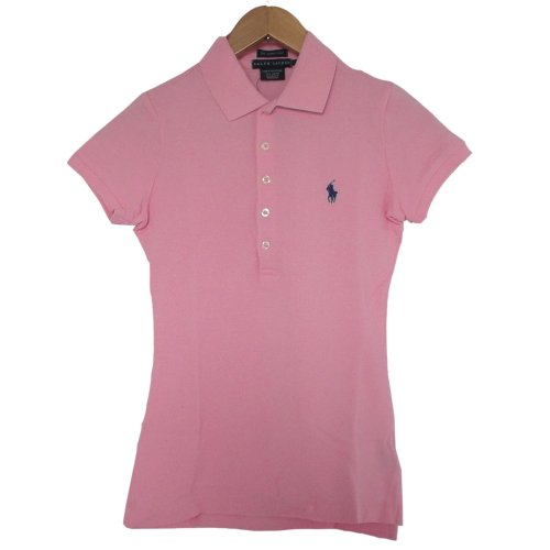 レディース ポロシャツ 半袖 スキニー 290736 ラルフ ローレン ブルー レーベル