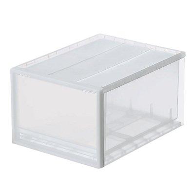 無印良品 PP収納ケース引出式大2個組【まとめ買い】 約34×44.5×24...