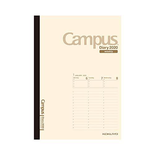 コクヨ キャンパスダイアリー 手帳 2020年 B6 ウィークリー クリーム ニ-CWVLS-B6-20 2020年 1月始まり
