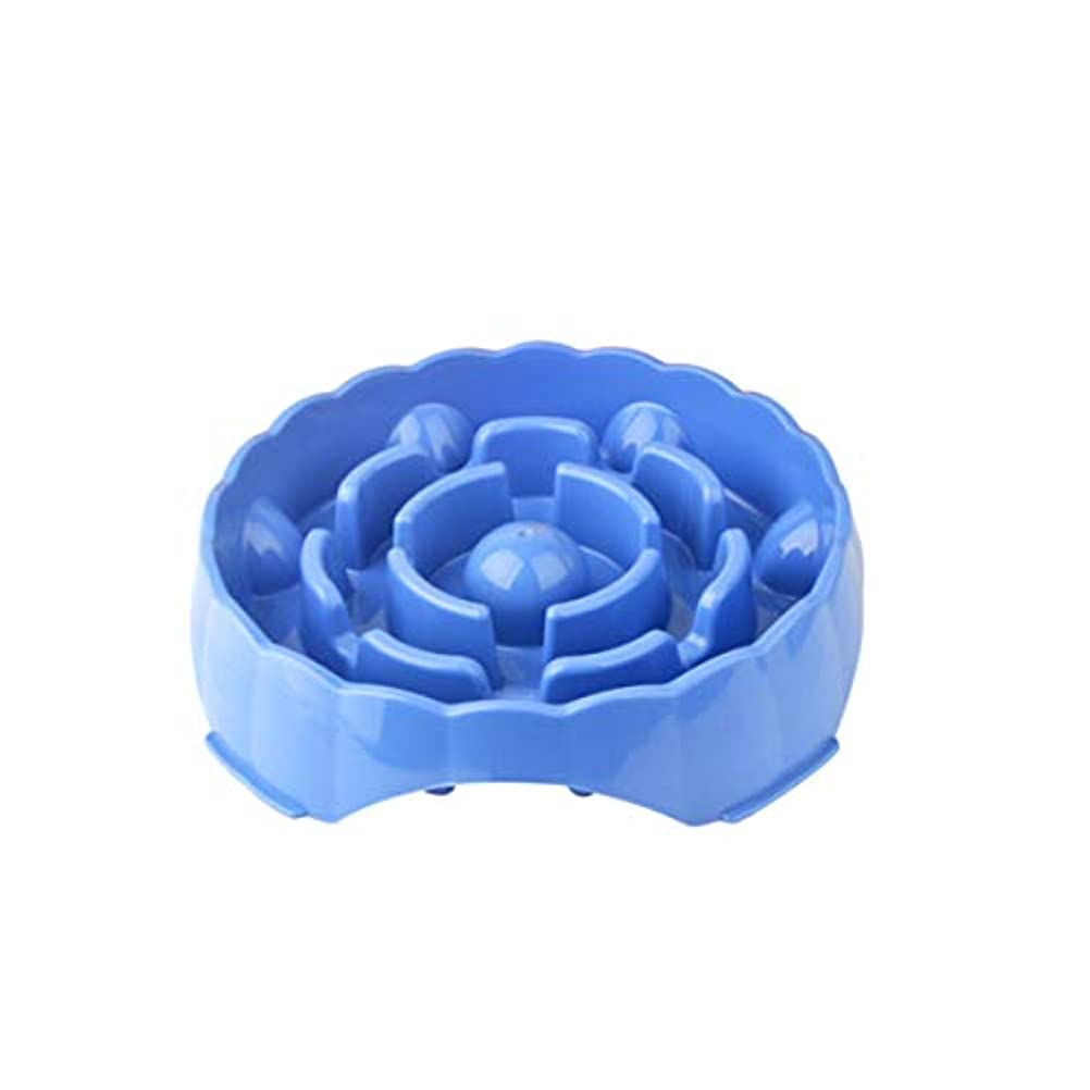 Xian ペットボトル、猫用ポット、犬用ポット、厚手の米ボウル Easy to Clean Non-Skid Bowls for Dogs (Color : Blue)