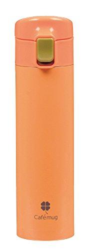 カフェマグファイン ワンタッチマグ 350 オレンジ 内面ふっ素加工 HB-874(1本入)