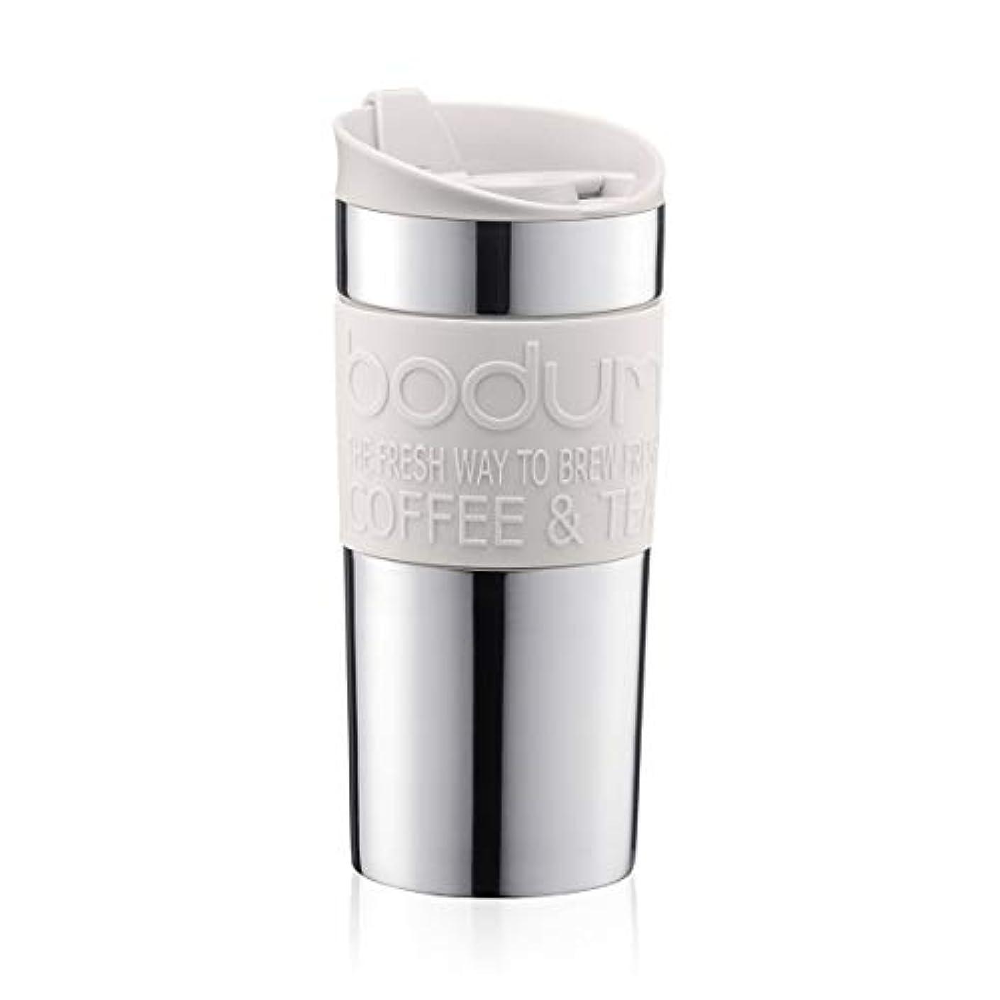 教育者ソロ誓い【正規品】BODUM ボダム ステンレス製携帯フレンチプレスコーヒーメーカー ホワイト 0.35L TRAVEL MUG トラベルマグ 11068-913