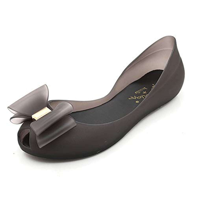 Finly 女性の滑り止めゼリー弓浅いフラットシューズレディースカジュアル防水レインブーツ水の靴