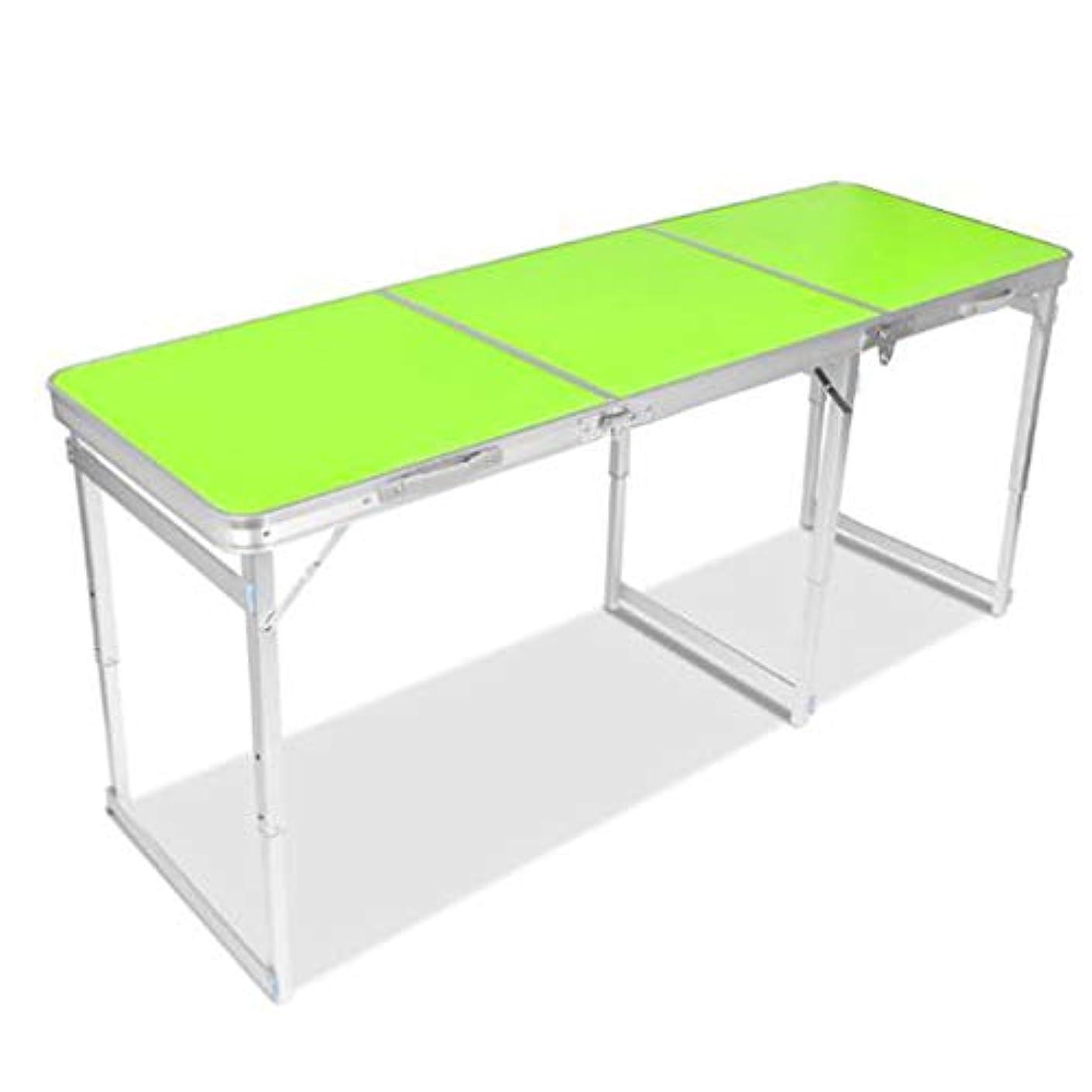 普遍的な誇りに思う後ろに6つの椅子が付いている屋外のピクニック用のテーブル、キャンプ党ピクニックガーデンの食事のために調節可能な携帯用折る高さ, green