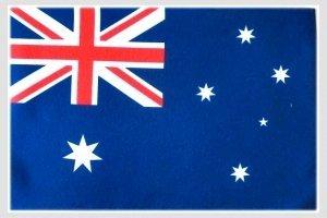 世界の国旗 ミニタオル・ハンドタオル オーストラリア国旗柄(素早い吸水・速乾のマイクロファイバー生地)