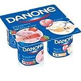 【冷蔵】【6パック】ダノンヨーグルト いちご2P+もも2P 75gX4