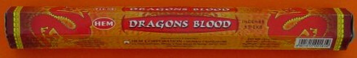シミュレートするカストディアン鰐HEM ドラゴンブラッド香(DRAGON BLOOD) スティックタイプ 1箱(1箱6筒×20本=120本入り) (郵便(メール)配送240円!7筒まで同梱可!)