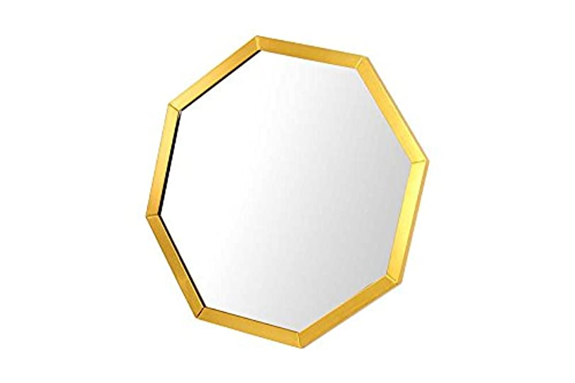 媒染剤クアッガプログレッシブnarumikk ミラー?鏡 ゴールド 20.5×15×20.5cm 八角卓上ミラー ゴールド 42-583