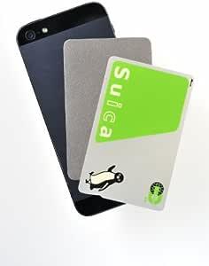 駅の改札やコンビニでピッ アベニューディー 非接触型ICカード読み取りエラー防止シート for iPhone SE/6s/6s Plus/5s対応) IC-IPH-01-SIL 日本製