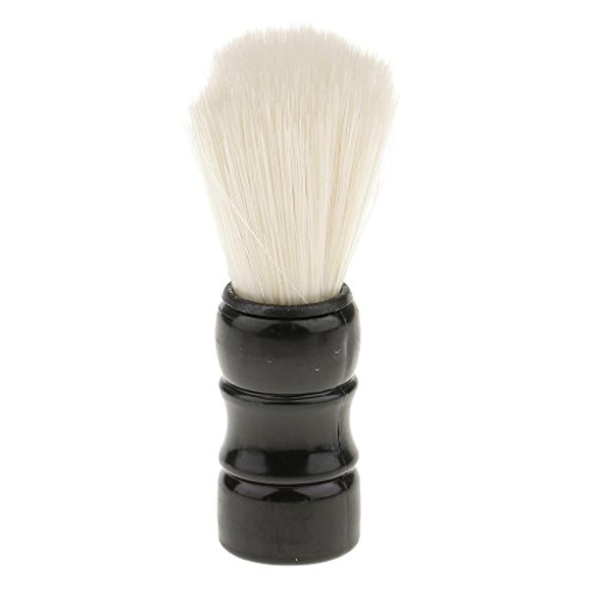 古い廃棄する掃除Hellery シェービングブラシ 男性 口ひげ トリミング ナイロンブラシ シェービングツール 髭剃り 全2色 - ブラック