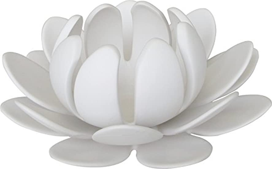 アウターすなわち民主主義マルエス 燭台 陶器製三連 ロータス 大 ホワイト