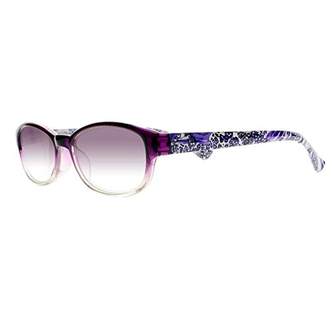 FidgetGear 女性フラワーティンテッドレンズリーダー老眼鏡アイウェア+1.00?+4.00 New 紫の