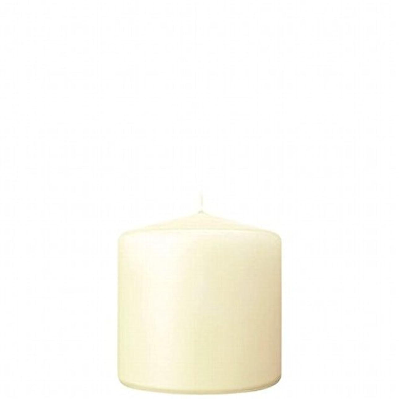 磁気砲撃石膏kameyama candle(カメヤマキャンドル) 3×3ベルトップピラーキャンドル 「 アイボリー 」(A9730000IV)