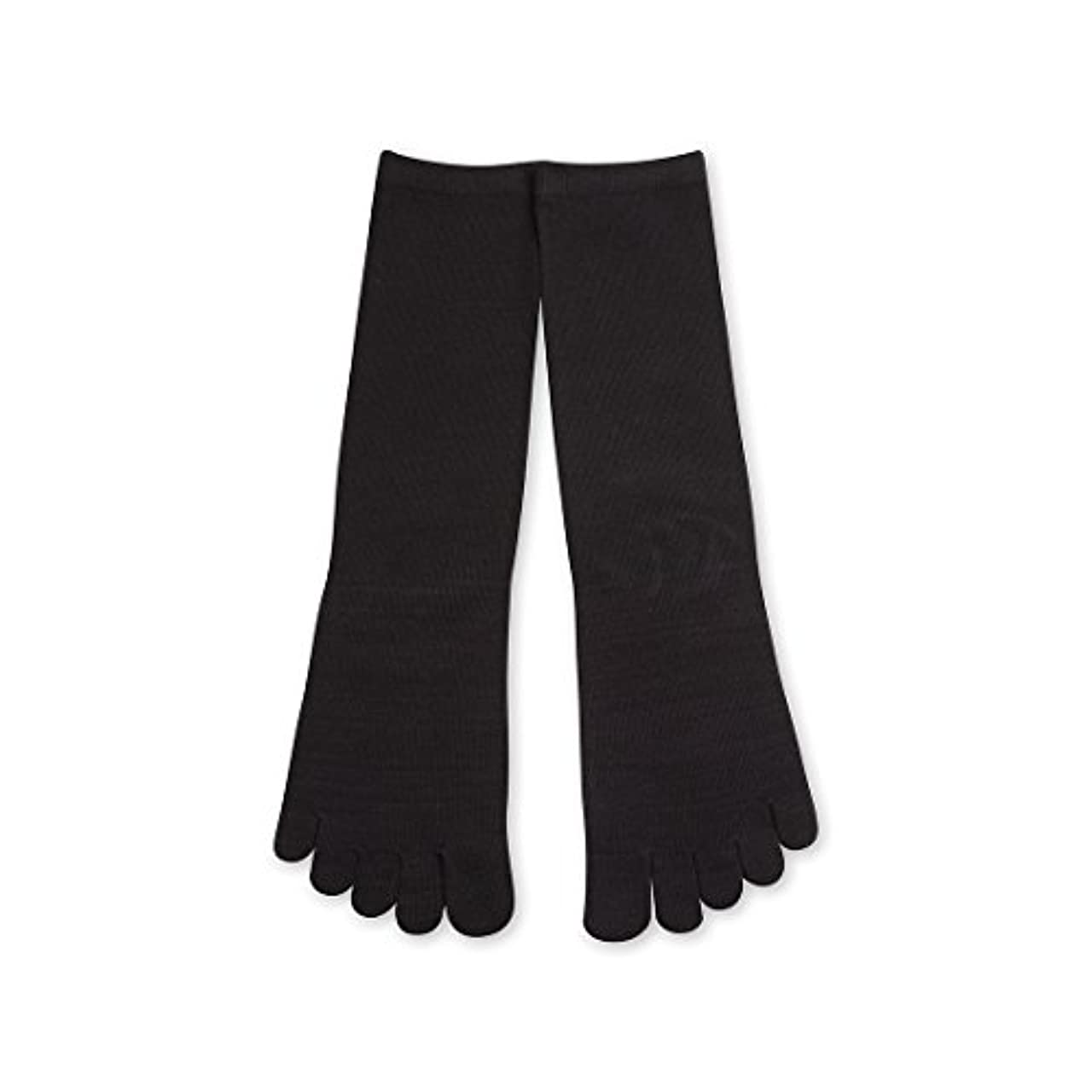 ブート意味するそよ風Deol(デオル) 5本指 ソックス 男性用 靴下 25~27cm 黒